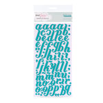 American Crafts - Dear Lizzy Christmas Collection - Thickers - Foam Alphabet Stickers - Merry - Mermaid, CLEARANCE