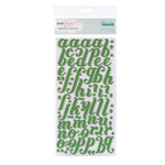 American Crafts - Dear Lizzy Christmas Collection - Thickers - Foam Alphabet Stickers - Merry - Spinach, CLEARANCE