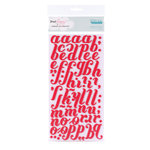 American Crafts - Dear Lizzy Christmas Collection - Thickers - Foam Alphabet Stickers - Merry - Cherry, CLEARANCE
