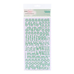 American Crafts - Dear Lizzy Christmas Collection - Thickers - Glittered Chipboard Stickers - Sparkling - Opal, CLEARANCE