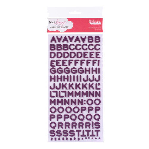 American Crafts - Dear Lizzy Enchanted Collection - Thickers - Foam Alphabet Stickers - Fantastic - Wine, CLEARANCE