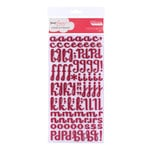 American Crafts - Dear Lizzy Enchanted Collection - Thickers - Glitter Foam Alphabet Stickers - Fancy - Strawberry, CLEARANCE