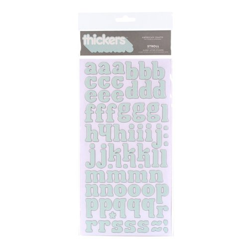 American Crafts - City Park Collection - Thickers - Glossy Chipboard Alphabet Stickers - Stroll - Snowflake, CLEARANCE