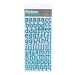American Crafts - City Park Collection - Thickers - Glitter Foam Alphabet Stickers - Sunny - Reef, CLEARANCE