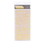 American Crafts - City Park Collection - Thickers - Glitter Foam Alphabet Stickers - Sunny - Banana, CLEARANCE