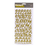 American Crafts - Campy Trails Collection - Thickers - Wood Alphabet Stickers - Forest - Kale