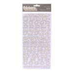 American Crafts - Peachy Keen Collection - Thickers - Chipboard Alphabet Stickers - Fellow - Fog