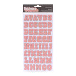 American Crafts - Hello Sunshine Collection - Thickers - Chipboard Alphabet Stickers - Sunset - Blush