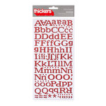 American Crafts - Hollyday Collection - Christmas - Thickers - Glitter Chipboard Alphabet Stickers - Reindeer - Red