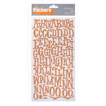 American Crafts - Nightfall Collection - Halloween - Thickers - Foam Alphabet Stickers - Elm - Rust