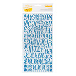 American Crafts - Amy Tangerine Collection - Thickers - Molded Foam Rubber Alphabet Stickers - Lovely - Peacock