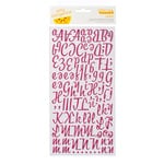 American Crafts - Amy Tangerine Collection - Thickers - Molded Foam Rubber Alphabet Stickers - Lovely - Mulberry
