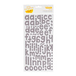 American Crafts - Amy Tangerine Collection - Thickers - Printed Fabric Alphabet Stickers - Hello - Ash