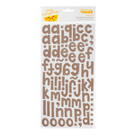 American Crafts - Amy Tangerine Collection - Thickers - Printed Fabric Alphabet Stickers - Hello - Truffle