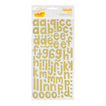 American Crafts - Amy Tangerine Collection - Thickers - Printed Fabric Alphabet Stickers - Hello - Kale
