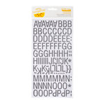 American Crafts - Amy Tangerine Collection - Thickers - Printed Chipboard Alphabet Stickers - Goodness - Slate