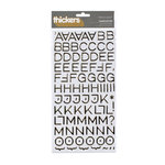 American Crafts - Thickers - Foil Chipboard Alphabet Stickers - Hardcover - Gold