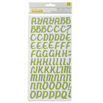 American Crafts - Fresh Squeezed Collection - Thickers - Glitter Foam Alphabet Stickers - Cupboard - Cricket