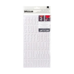 American Crafts - Thickers - DIY - Foam Alphabet Stickers - Shoebox