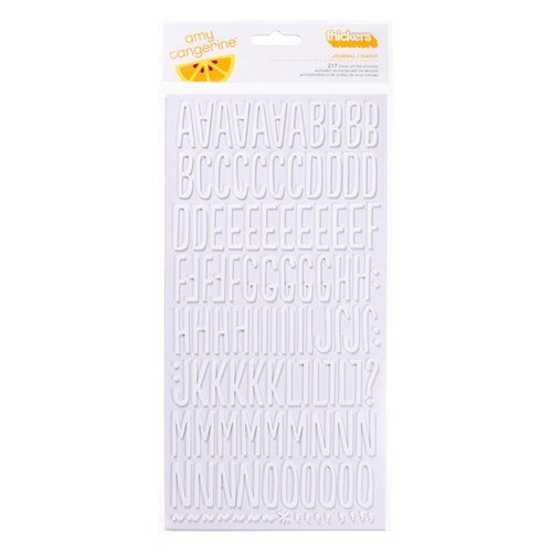 American Crafts - Amy Tangerine Collection - Sketchbook - Thickers - Foam Alphabet Stickers - Journal - White