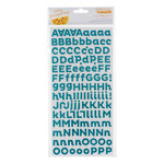 American Crafts - Amy Tangerine Collection - Sketchbook - Thickers - Glitter Foam Alphabet Stickers - Scene - Cascade