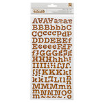 American Crafts - My Girl Collection - Thickers - Printed Chipboard Stickers - Memo - Cork