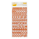 American Crafts - Amy Tangerine Collection - Ready Set Go - Thickers - Corrugated Alphabet Stickers - Daily - Crawfish