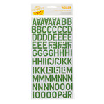 American Crafts - Amy Tangerine Collection - Ready Set Go - Thickers - Corrugated Alphabet Stickers - Daily - Moss