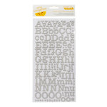 American Crafts - Amy Tangerine Collection - Ready Set Go - Thickers - Printed Chipboard Alphabet Stickers - Everyday - White