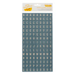 American Crafts - Amy Tangerine Collection - Ready Set Go - Thickers - Chipboard Tile Alphabet Stickers - Weekender - Mediterranean