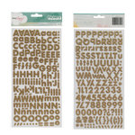 American Crafts - Dear Lizzy 5th and Frolic Collection - Thickers - Glitter Foam Alphabet Stickers - Fox - Gold