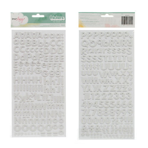 American Crafts - Dear Lizzy 5th and Frolic Collection - Thickers - Glitter Foam Alphabet Stickers - Fox - White