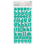 American Crafts Paper - XOXO Collection - Thickers - Glitter Foam - Dear - Robin's Egg