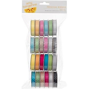 American Crafts - Amy Tangerine Collection - Sketchbook - Ribbon Value Pack - 24 Spools