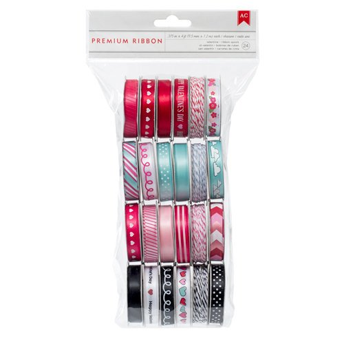 American Crafts Paper - XOXO Collection - Ribbon Value Pack - 24 Spools