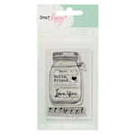 American Crafts - Dear Lizzy Lucky Charm Collection - Clear Acrylic Stamps 1
