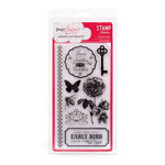 American Crafts - Dear Lizzy Enchanted Collection - Clear Acrylic Stamp Set - Bellflower, CLEARANCE
