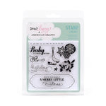American Crafts - Dear Lizzy Christmas Collection - Clear Acrylic Stamp Sets - Wonderland, CLEARANCE