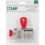 American Crafts - Christmas - Roller Date Stamp - Christmas