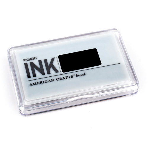 American Crafts - Archival Pigment Ink Stamp Pad - Black, CLEARANCE