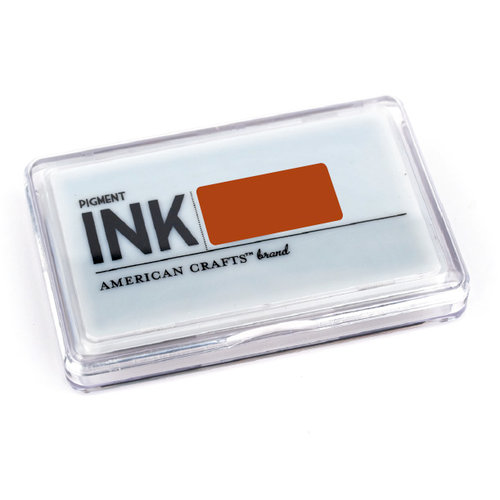American Crafts - Archival Pigment Ink Stamp Pad - Clay, CLEARANCE