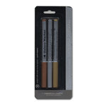 American Crafts - Metallic Markers - Medium Point - 3 Pack - Gold Silver and Copper