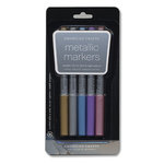 American Crafts - Metallic Markers - Medium Point - 5 Pack