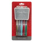 American Crafts - Gel Pen Set - Basics - Christmas - 5 Pack