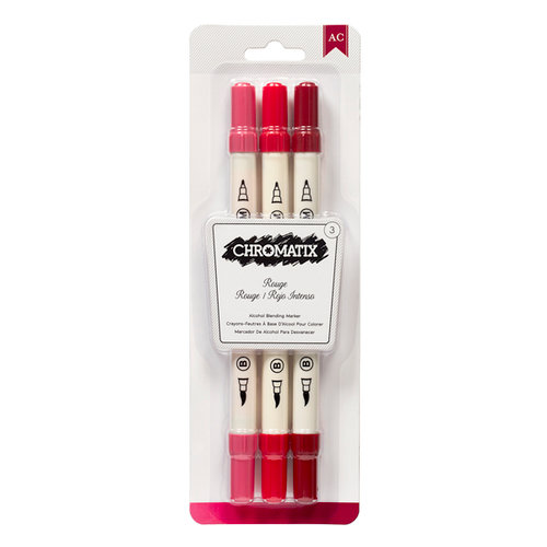 American Crafts - Chromatix - Blending Markers - Rouge - 3 Pack