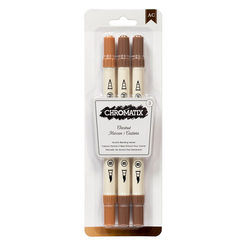 American Crafts - Chromatix - Blending Markers - Chestnut - 3 Pack