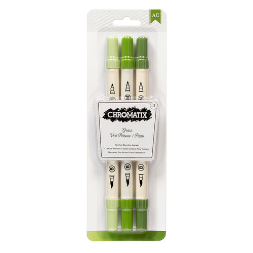 American Crafts - Chromatix - Blending Markers - Grass - 3 Pack
