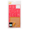 American Crafts - Amy Tangerine Collection - Yes, Please - Embroidery Stencil Kit - Alphabet - Inspire