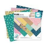 We R Memory Keepers - FUSEables Collection - 12 x 12 Paper Pad - Patterned