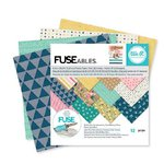 We R Memory Keepers - FUSEables Collection - 6 x 6 Paper Pad - Patterned